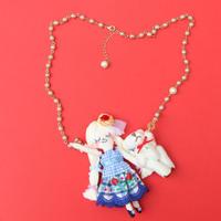 Teddy Bear Friend(White) Necklace