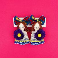 Purple Flower Earrings