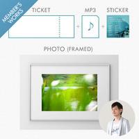 「チケット」 + 「アートディレクター/デザイナー佐藤昭太が、旅先で自身が撮影した写真を額装して送ります」 +【特典】「レア音源ダウンロード + ステッカー」