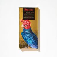【スタイナー】シナモンとオレンジ入り70%チョコタブレット