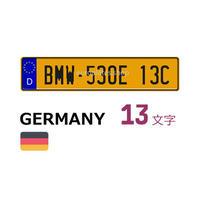 ドイツナンバー黄-13Y