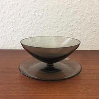 北欧ヴィンテージ/ハンドメイドガラス/カクテルグラス
