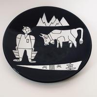 スイス/山の風景 中皿
