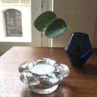 スイス/Hergiswilヘルギスウィル/ハンドメイドガラス・キャンドルホルダー/花