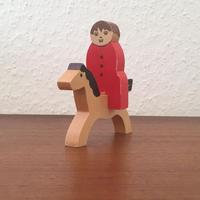 ヴィンテージ木製組み人形・赤