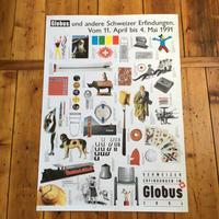 スイス/デパートGLOBUS開催/スイスの発明展ポスター/1991年