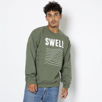SWELL  SWEAT  CREW   by  PALM/STRIPES