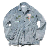 VINTAGE  DENIM  EDDIE  JACKET  by  Safari Lounge × PALM STRIPES