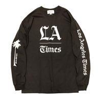 L.A. TIMES LS    TEE  by  PALM/STRIPES