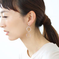 silver design chain earrings (シルバー)【E26-312S】