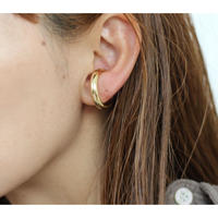 Bold  earcuff(Ear&Ring/ゴールド)【E50-332G】