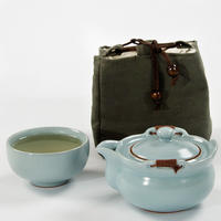 2018旅行茶セット箸置きコーヒーお茶セットセラミックティーポットケトルティーカップ磁器ポータブル中国カンフーティーセット