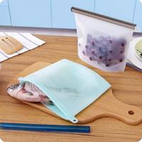 食品グレード耐熱再利用可能なシリコーンバッグ真空食品新鮮な袋ジップロックスタンドアップポーチ冷蔵庫食品収納コンテナ