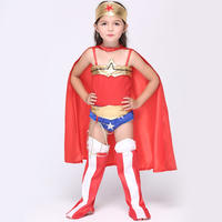 EK091 ハロウィン子供ワンダー少年服マント女の子コスプレアニメウィッグコスプレスーパーマン衣装セット