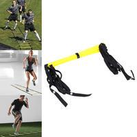 5ラング10フィート3メートルアジリティラダーナイロンストラップ用サッカースピードケットボールサッカーフィットネス足トレーニングサッカートレーニング屋外機器