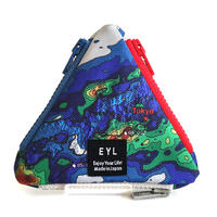 "EYL triangle coin purse ""Rainfall Radar"""