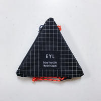 EYL coin purse Dyneema 210 denier X-grid Black × Orange