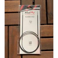 KnitPro Karbonz コード付き輪針 2.00-3.75mm  80cm