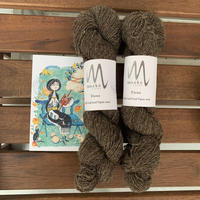 Moeke yarns  Elena  single  Brown 50gかせ  入荷しました