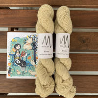 Moeke yarns  Elena  single Natural  50g かせ