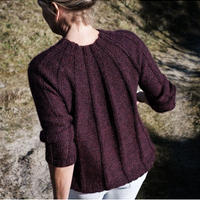 Isager   RED BEET  PULL OVER  糸キット(M,Lサイズに対応)
