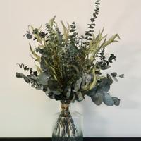 【EZ BARRIER FLOWER 365】抗菌ドライフラワー ユーカリS(花瓶付き)