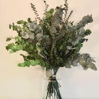 【EZ BARRIER FLOWER 365】抗菌ドライフラワー ユーカリ(花瓶付き)