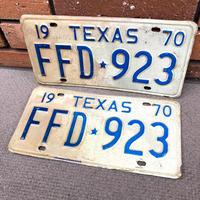 1970's テキサス州 ライセンスプレート  ペア揃い