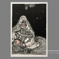 霧生 まどか作品 「星の子どもたち #3」リトグラフ作品