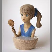 浅野井 春奈 作品 「水と鏡」木彫作品