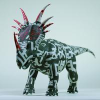 杉﨑良子作品 スティラコサウルス Styracosaurus