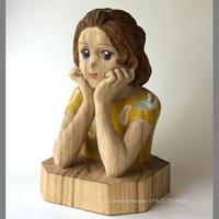浅野井 春奈 作品 「shine」木彫作品
