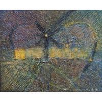 植村 遥作品「夜汽車」油彩画作品