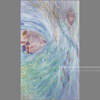 林 明日美作品 「どこからか来た波」水彩画作品