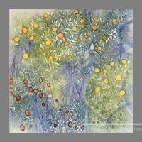 林 明日美作品 「見えない光 Ⅲ」水彩画作品(額付)
