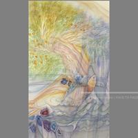 林 明日美作品 「どこからか来た風」水彩画作品