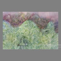 林 明日美作品 「マラケシュのオリーブ畑にて  夕暮れ 」水彩画作品(額付)
