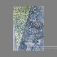 林 明日美作品 「光の波 」水彩画作品(額付)