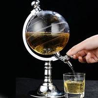 ワインディスペンサー 地球儀型 ワイン ビール シングルキャニスターポンプ バー キッチンツール