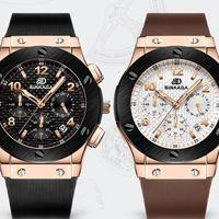 スポーツモデル腕時計 RG クロノグラフ コンプリートカレンダー機能 サファイアガラス風防 防水 BINKADA海外ブランド輸入