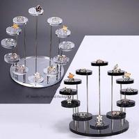 ジュエリーディスプレイ什器 プロ用 業務用 店舗 7層12スタンド イヤリング 指輪 宝石 展示会 星座や誕生石モチーフの販売