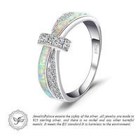 JewelryPalace オパール クロスオーバーリング