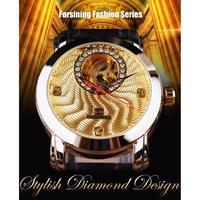 2カラー展開 機械式 ダイヤディスプレイ スケルトン メンズ腕時計