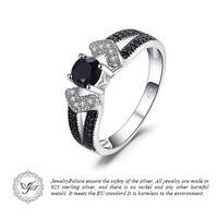 JewelryPalace エレガントな0.8ct ナチュラルブラックリング