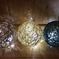 麻紐のランプシェード手作りキット