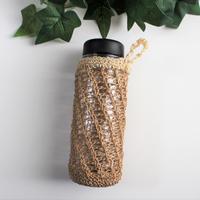 麻紐のボトルカバー(茶)