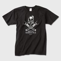 Metal resistance (Black) / スカルメタルTシャツ