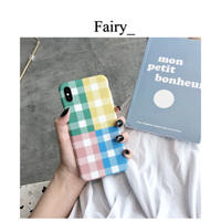 【Q1909009】チェック柄 iphone case
