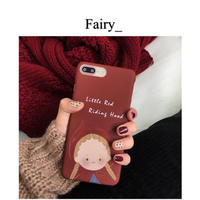 【M1811008】iPhoneケース little red riding hood  赤