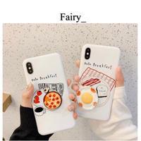 【Q1909004】breakfast iPhoneケース